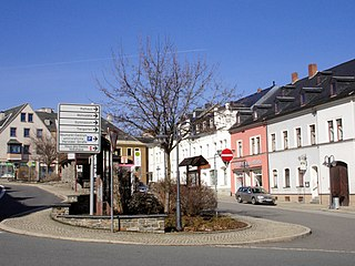 Thum Place in Saxony, Germany