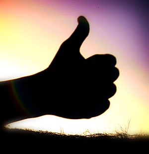 """Thumbs up"" picture, mostly uploaded..."