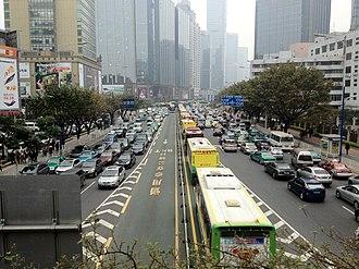 Guangzhou Bus Rapid Transit - GBRT during rush hour