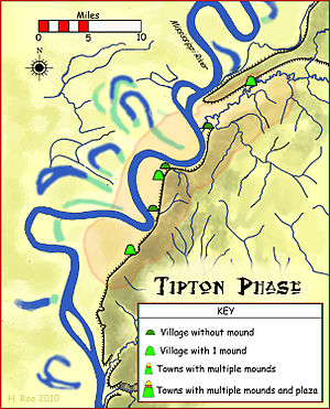 Tipton County, Tennessee - The Tipton Phase and some of its associated sites