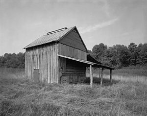 Halifax County, Virginia - Tobacco barn, Edgewood Farm, Halifax County