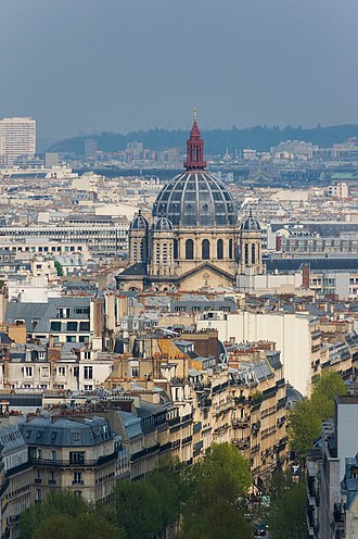 Saint-Augustin, Paris - The view from the Arc de Triomphe