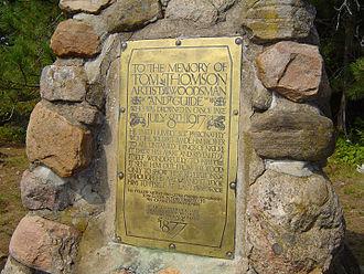 Tom Thomson - The Tom Thomson Memorial Cairn, Canoe Lake, Algonquin Park