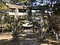 Torii of Sasayama Shrine in Kurume Castle.jpg