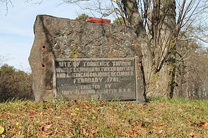 Battle of Torrence's Tavern - The DAR marker, located on Langtree Road near the intersection with N.C. Highway 115 in Mount Mourne.