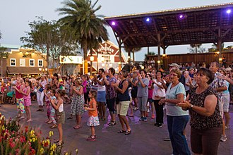 Age-restricted community - An entertainment venue at Villages in Florida.