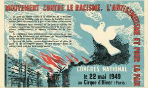 Tract du Congrès fondateur du MRAP (1949).
