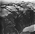 Tracy Arm Glacier, hanging glaciers and iceberg filled inlet, August 23, 1976 (GLACIERS 5907).jpg