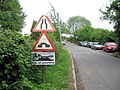 Traffic Warning Signs for Canal Bridge at Marsworth - geograph.org.uk - 1462972.jpg