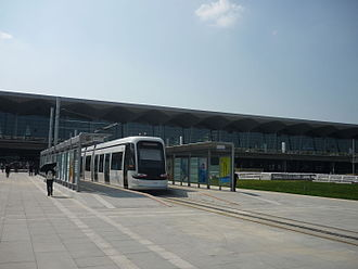 Hunnan Tram, a CRV 70% Low-Floor Tram serving Hunnan District Trams in Shenyang1.JPG