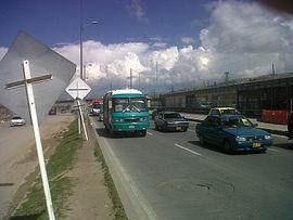 City bus between Bogotá and Soacha
