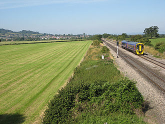 Churchdown - Travelling by train from Gloucester to Cheltenham Spa and not calling at the currently closed Churchdown railway station.