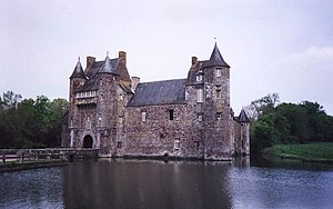 Manor house - Château de Trécesson, a 14th-century manor-house in Morbihan, Brittany