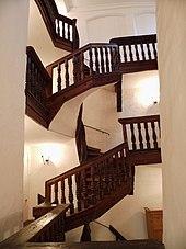 Cage d 39 escalier wikimonde - Cage d escalier exterieur ...