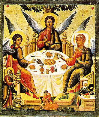 Icon - Russian icon of Holy Trinity