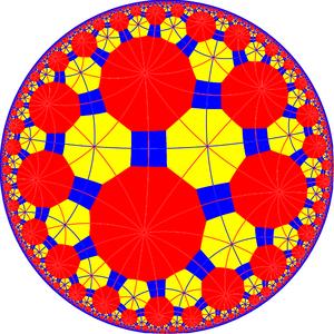 Truncated tetraheptagonal tiling - Image: Truncated tetraheptagonal tiling with mirrors