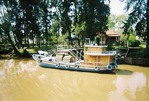 Tigre Partido - Supply barge in Tigre, still the easiest access to many points along the delta.