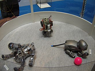 AIBO - Two AIBO Prototypes and transparent ERS-7