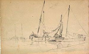 Yawl - A small 18th century yawl-rigged fishing craft