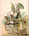 Two Ladies en neglige in a phaeton - The Gallery of Fashion, August 1794.png