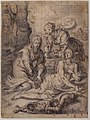 Two Women Annointing the Wounds of Saint Sebastian (recto); Study of a Nude Male Figure (verso) MET 47.155.2 RECTO.jpg