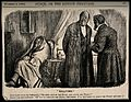 Two doctors discussing a patient who has a fever and a great Wellcome V0011413.jpg