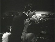 Tyrone Power kisses Alice Faye in Alexander's Ragtime Band (1938)