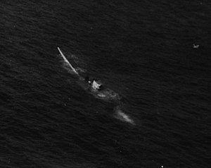 German submarine U-515 - U-515 sinking