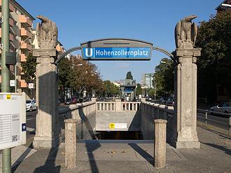 Hohenzollernplatz (Berlin U-Bahn) - The entrance of U-Bahn station Hohenzollernplatz