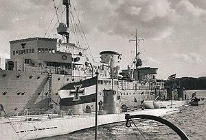 Saar and the submarines U-8, U-9, U-10 and U-11 in 1936