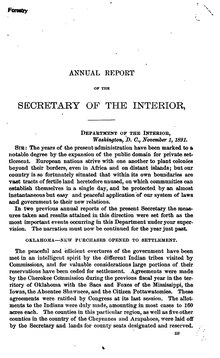 U.S. Department of the Interior Annual Report 1891.djvu