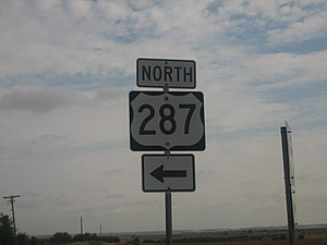 U.S. Route 287 in Texas