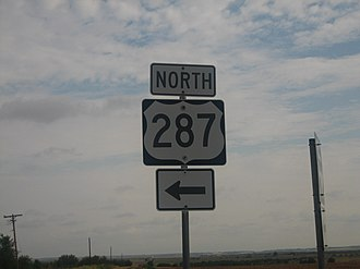 U.S. Route 287 in Texas - Image: U.S. Highway 287 IMG 0694