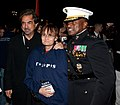 U.S. Marine Corps Lt. Gen. Willie J. Williams, right, the director of Marine Corps Staff and the host of the Evening Parade, poses for a photo with actor Joe Mantegna, left, and another attendee following 130524-M-BZ453-180.jpg