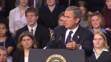 File:U.S. President George W. Bush signs No Child Left Behind education bill at Hamilton High School in Hamilton, Ohio (January 8, 2002).webm