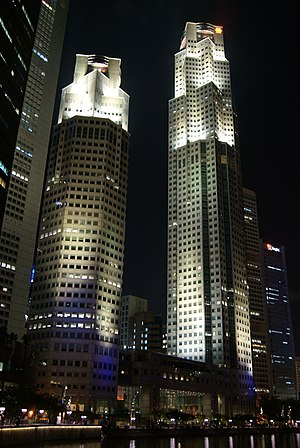 UOB Plaza - Image: UOB Plaza with Floodlights