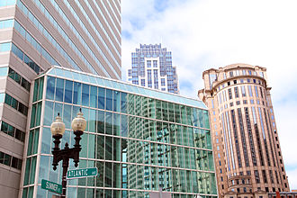 Financial District, Boston - One Financial Center and nearby buildings