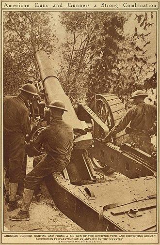 BL 8-inch howitzer Mk VI – VIII - US gunners with Mk VI gun in France