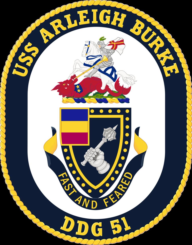 USS Arleigh Burke DDG-51 Crest