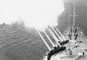 USS Galveston (CLG-3) turrets firing 1965.jpg