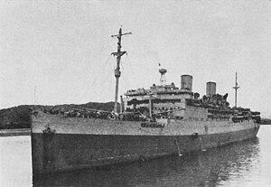 SS Conte Biancamano - SS Conte Biancamano as USS Hermitage (AP-54)