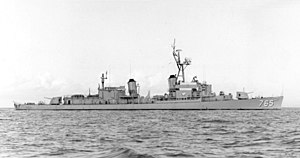 USS Keppler (DD-765) - USS Keppler (DD-765) in Roosevelt Roads 1965