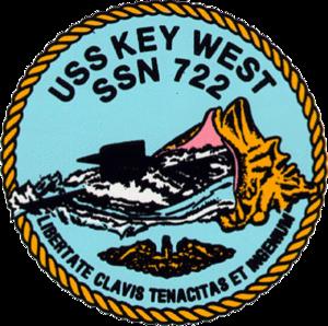 USS Key West (SSN-722) - Image: USS Key West SSN 772 Crest