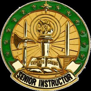 U.S. military instructor badges - U.S. Army Senior Instructor Identification Badge