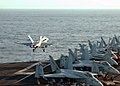 US Navy 021015-N-1159M-004 F-A-18C launches from USS Lincoln.jpg