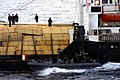 US Navy 030301-N-4729H-116 Members of the Visit, Board, Search and Seizure (VBSS) team assigned to the command ship USS La Salle (AGF 3) inspect a suspicious merchant vessel in the Mediterranean Sea.jpg