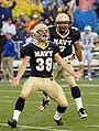 US Navy 051008-N-9693M-020 U.S. Naval Academy Midshipmen kicker Joey Bullen celebrates his game winning field goal with 4-10ths of a second left in the game against Air Force.jpg