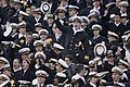 US Navy 061202-N-5319A-037 U.S. Naval Midshipmen cheer as they tie the score during the first series of the 2006 Army Navy Game.jpg