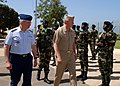 US Navy 070518-N-6544L-002 Commander, U.S. Sixth Fleet Vice Adm. John Stufflebeem and Commander, U.S. Coast Guard Atlantic Area Vice Adm. D. Brian Peterman review a formation of Senegalese soldiers after meeting with Senegal Ch.jpg