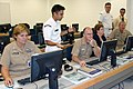 US Navy 070920-N-9246G-014 Staff members at the Center for Information Dominance (CID) Corry Station, brief Capt. Connie Frizzell, commanding officer of CID.jpg